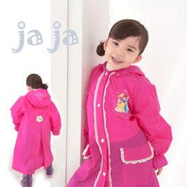 ●Rainbooboo●桃紅公主洋裝式兒童風雨衣-背部加寬設計【C1002】