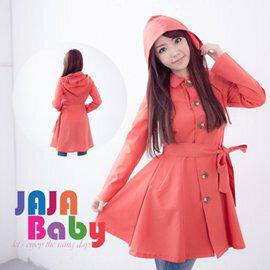 ●橘永親子●洋裝式日本超好看時尚雨衣 風衣 風雨衣J1001