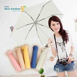●JAJA BABY●●甜心點點晴雨傘-抗UV【嫩綠】