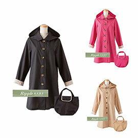 日本超好看 時尚雨衣/風雨衣 碎花袖可折 ---有三色