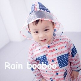 ◎Rain booboo◎美國星旗兒童雨衣/兒童風雨衣【C1023-1】