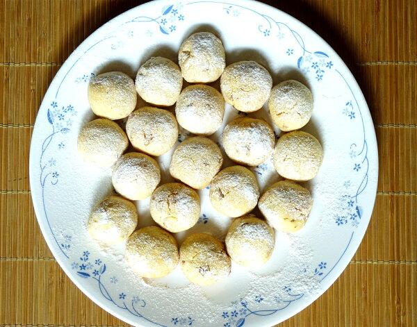 【楓月軒】乳酪核桃雪球手工餅乾       一包180±10公克