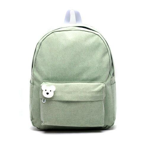 後背包 韓國品牌AFRICA RIKIKO 水洗布後背包 NO.126 라이트그린(Light green) - 包包阿者西