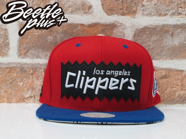BEETLE PLUS 全新 MITCHELL&NESS X BAIT X NBA 洛杉磯快艇 LOS ANGELES CLIPPERS 紅藍 貼布 聯名 後扣棒球帽 MN-125 0