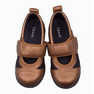 【UNICO女鞋】CRAAS機能鞋/ 黏帶款 / 古銅色 /  號碼CS-007