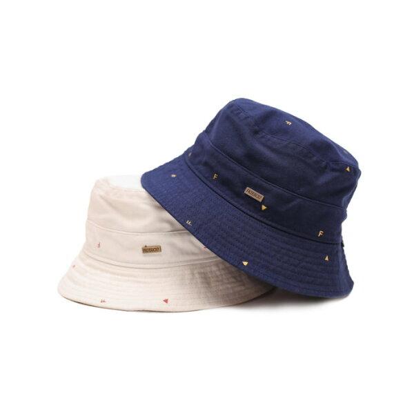 ►法西歐_桃園◄ Filter017 Bucket Hat F 波點 幾何三角形 金屬Logo 米白 深藍 平頂 漁夫帽