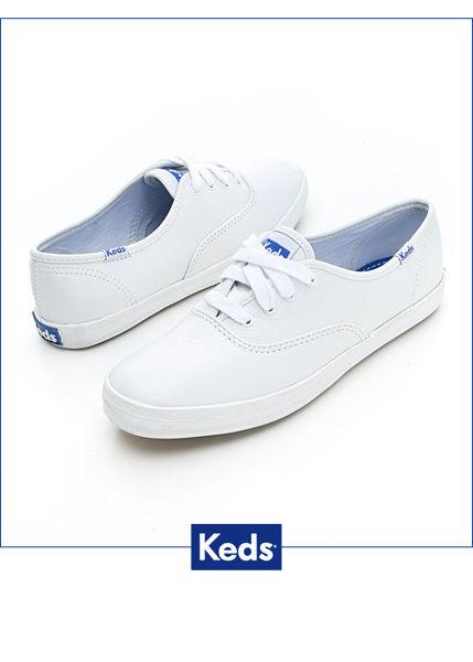 Keds 經典升級皮質綁帶休閒鞋(白皮革) 白鞋│綁帶│懶人鞋│平底 1
