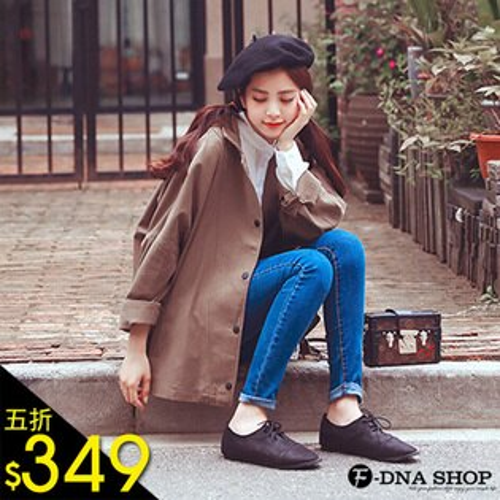 F-DNA★復古學院風排扣風衣夾克外套(2色-M-XL)【ESV1757】