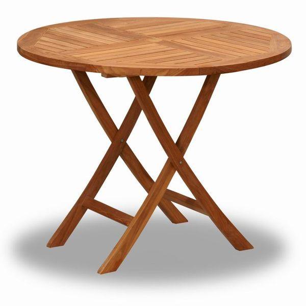 BROTHER 兄弟牌印尼柚木古典折疊100cm圓桌