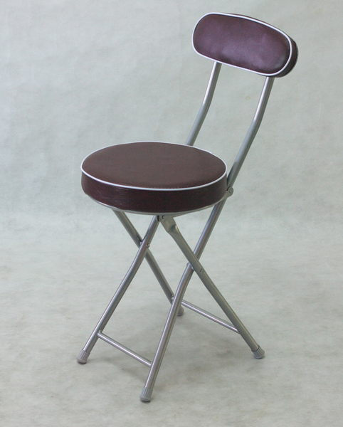 兄弟牌丹堤有背折疊椅( 咖啡色)~PU加厚座墊設計,4 張/箱~家居休閒必備!