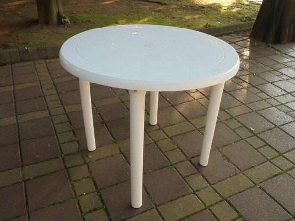 兄弟牌~白色塑膠圓桌(90cm)~物美價廉~居家庭院休閒必備!!臺灣製