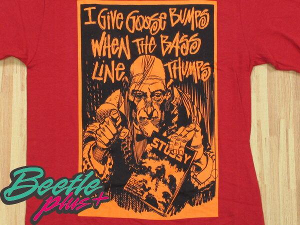BEETLE PLUS 西門町實體店面 STUSSY X CREEPY 恐怖漫畫 聯名 GIVE GOOSE BUMPS TEE 紅 橘 2