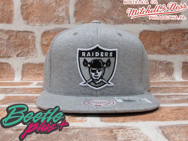 BEETLE PLUS MITCHELL&NESS NFL 奧克蘭 突擊者 RAIDERS LOGO 毛巾布 全灰 SNAPBACK 後扣棒球帽 MN-139 0