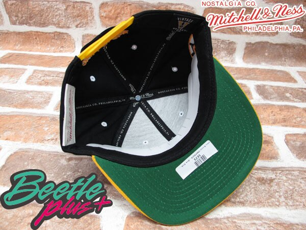BEETLE PLUS MITCHELL&NESS NHL 波士頓 棕熊 BOSTON BRUINS 黑黃 草寫字 SNAPBACK 後扣棒球帽 MN-40 2