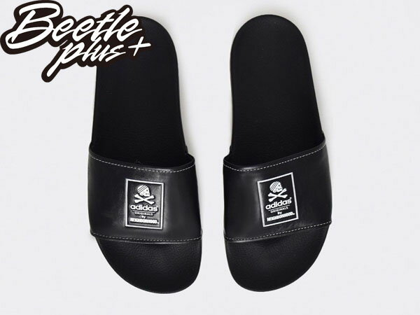 BEETLE NH ADILETTE ADIDAS NEIGHBORHOOD 黑白 GD 余文樂 拖鞋 B26094 2