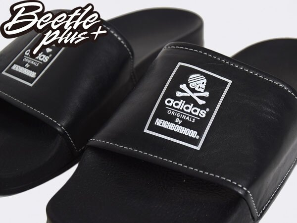 BEETLE NH ADILETTE ADIDAS NEIGHBORHOOD 黑白 GD 余文樂 拖鞋 B26094 1