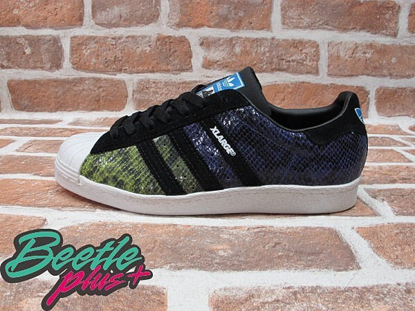 BEETLE PLUS 全新 ADIDAS x X-LARGE SUPERSTAR 80s ORIGINALS 聯名款 彩虹 四色蛇紋 G18090
