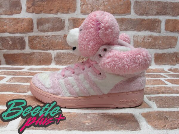 BEETLE PLUS 全新 ADIDAS ORIGINALS OBYO X JEREMY SCOTT X TEDDY BEARS 泰迪熊 粉紅 G44001 0