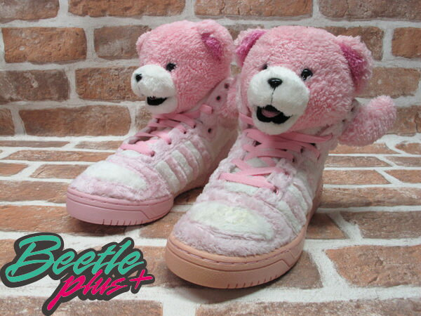 BEETLE PLUS 全新 ADIDAS ORIGINALS OBYO X JEREMY SCOTT X TEDDY BEARS 泰迪熊 粉紅 G44001 1