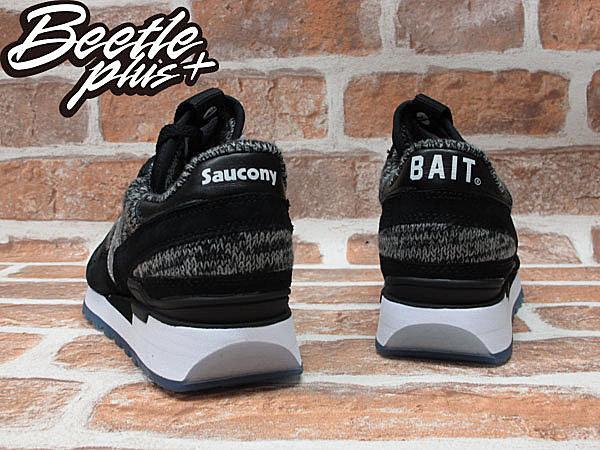 BEETLE PLUS 台灣未發 聯名 BAIT X SAUCONY SHADOW CRUEL WORLD 3 黑 3M反光 針織 冰底 S70166-1 2