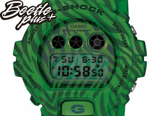 BEETLE PLUS 全新 2014 CASIO G-SHOCK DW-6900ZB-3DR 綠 斑馬 迷彩 紋路 西瓜 叢林 三顯 手錶 卡西歐 WATCH 1