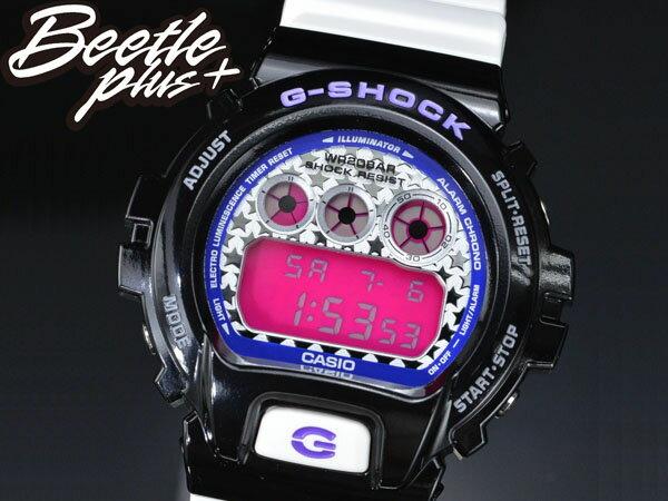 BEETLE PLUS 全新 CASIO G-SHOCK DW-6900SC-1DR 黑 白 桃紅 星星錶面 炫彩系列 殺人鯨 AJ11 電子錶 手錶 WATCH 0
