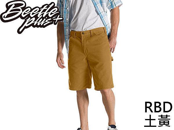 BEETLE PLUS DICKIES RELAXED FIT DX 201 RBD SHORTS 土黃 工作短褲 帆布