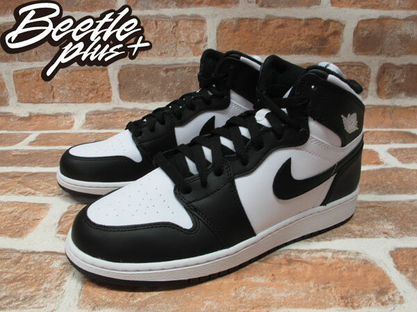 BEETLE PLUS NIKE AIR JORDAN 1 RETRO GS OG 黑白 女鞋 575441-010 1