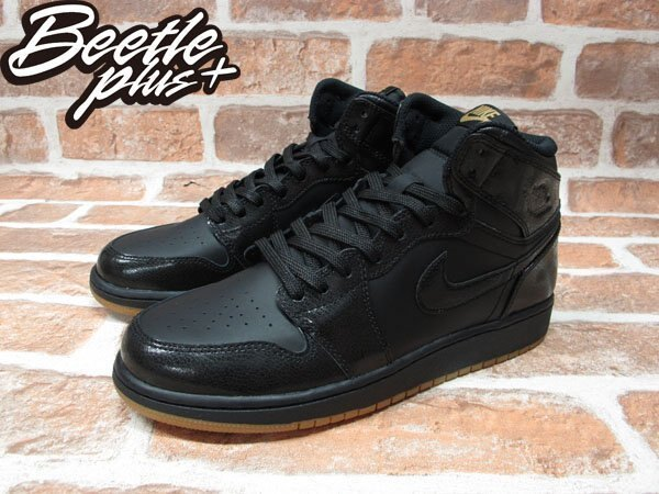 BEETLE PLUS NIKE AIR JORDAN 1 RETRO HIGH OG GS 全黑 女鞋 575441-020 1