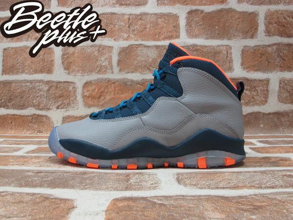 BEETLE PLUS 全新 NIKE AIR JORDAN 10 RETRO GS NBA 山貓隊 灰 深藍 橘 女鞋 BOBCATS 310806-026 0