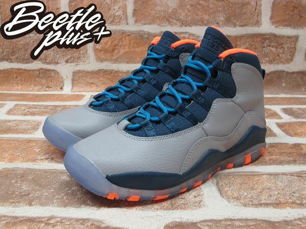 BEETLE PLUS 全新 NIKE AIR JORDAN 10 RETRO GS NBA 山貓隊 灰 深藍 橘 女鞋 BOBCATS 310806-026 1
