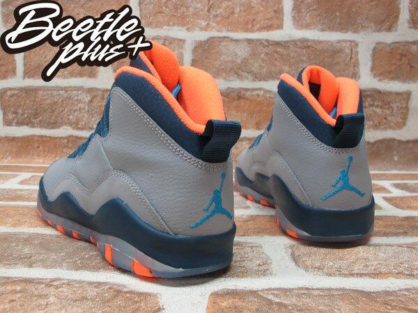 BEETLE PLUS 全新 NIKE AIR JORDAN 10 RETRO GS NBA 山貓隊 灰 深藍 橘 女鞋 BOBCATS 310806-026 2