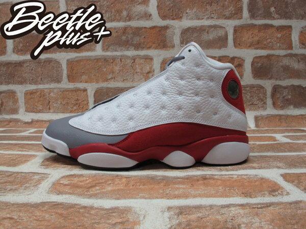 BEETLE PLUS NIKE AIR JORDAN 13 RETRO BG GS 灰 白紅 女鞋 灰頭 414574-126