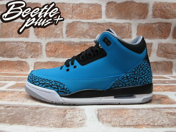 BEETLE PLUS 全新 NIKE AIR JORDAN III 3 RETRO GS POWDER BLUE 藍 爆裂紋 麂皮 阿凡達 女鞋 398614-406 0