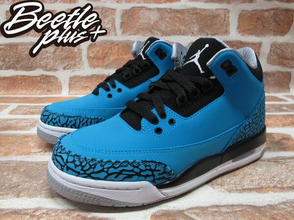 BEETLE PLUS 全新 NIKE AIR JORDAN III 3 RETRO GS POWDER BLUE 藍 爆裂紋 麂皮 阿凡達 女鞋 398614-406 1