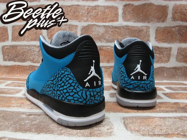 BEETLE PLUS 全新 NIKE AIR JORDAN III 3 RETRO GS POWDER BLUE 藍 爆裂紋 麂皮 阿凡達 女鞋 398614-406 2