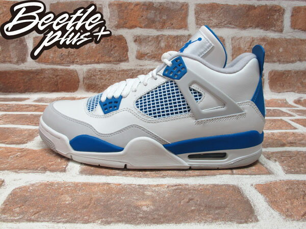 BEETLE PLUS 全新 NIKE AIR JORDAN 4 IV RETRO GS 復刻 白藍 408452-105 MILITARY BLUE 0