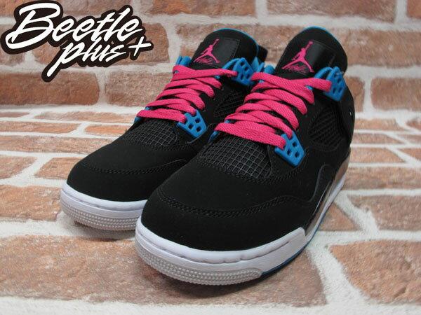 BEETLE PLUS NIKE AIR JORDAN 4 IV RETRO GS SOUTH BEACH 黑藍 桃紅 南灣 女鞋 487724-019 1