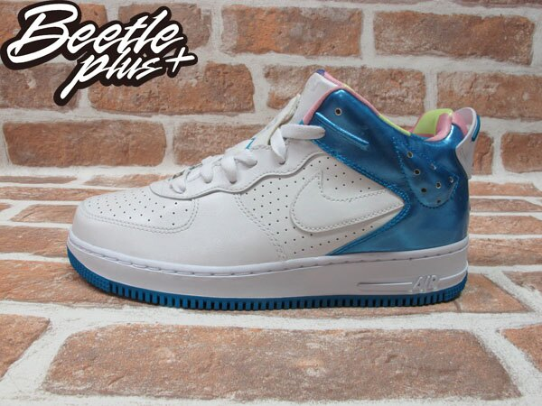 西門町 BEETLE PLUS 美國限定 全新 NIKE GIRLS AJF 6 5/8 GS JORDAN FORCE 白藍 童鞋 343105-151 0