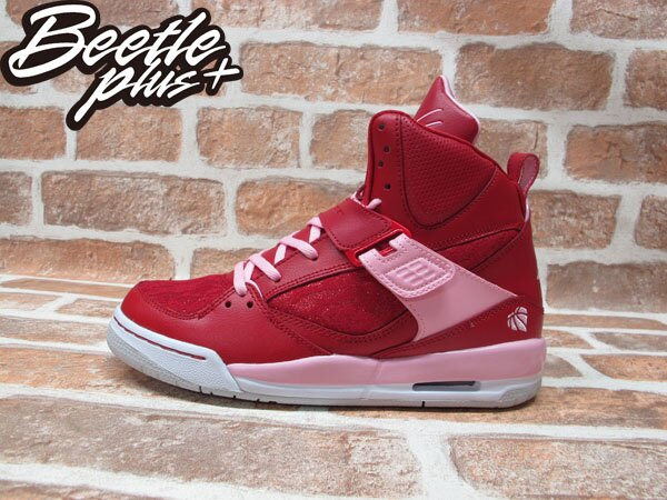 BEETLE PLUS 全新 NIKE GIRLS JORDAN FLIGHT 45 HIGH GS 紅 情人節 蕾絲 547769-605 0