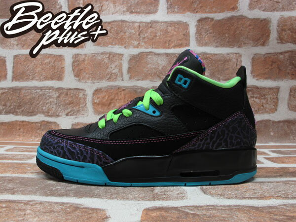 BEETLE PLUS 全新 NIKE AIR JORDAN SON OF LOW BEL AIR 黑紫藍綠 爆裂紋 女鞋 火星之子 580604-028 0