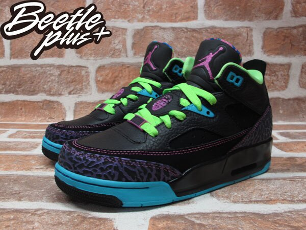 BEETLE PLUS 全新 NIKE AIR JORDAN SON OF LOW BEL AIR 黑紫藍綠 爆裂紋 女鞋 火星之子 580604-028 1