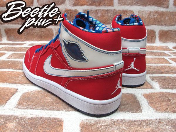 BEETLE PLUS 全新 NIKE AIR JORDAN 1 RETRO LS UNDEFEATED 麂皮 格紋內裡 紅白 藍鞋帶 315794-611 2