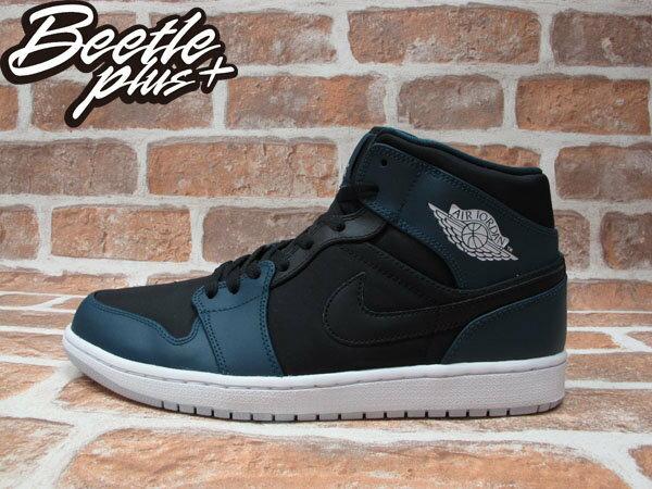 BEETLE NIKE AIR JORDAN 1 MID NIGHTSHADE 黑 湖水藍 男鞋 554724-016