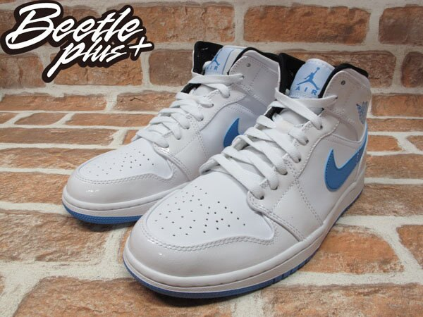 BEETLE PLUS NIKE AIR JORDAN 1 MID 白藍 北卡藍 傳奇藍 男鞋 LEGEND BLUE 554724-127 1