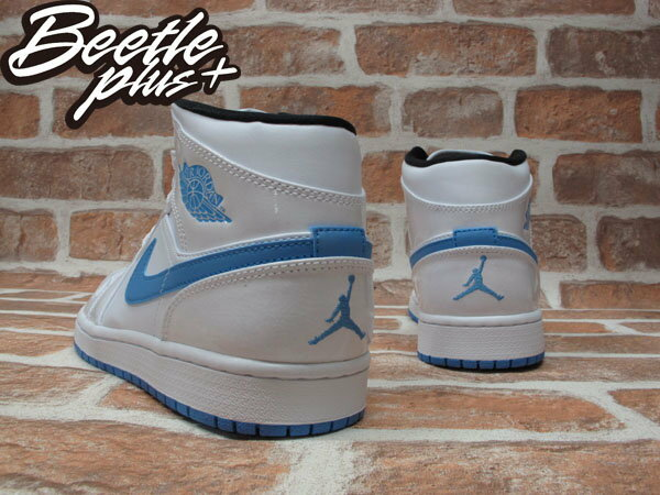 BEETLE PLUS NIKE AIR JORDAN 1 MID 白藍 北卡藍 傳奇藍 男鞋 LEGEND BLUE 554724-127 2