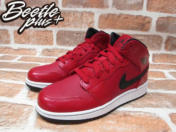 BEETLE NIKE AIR JORDAN 1 MID BG GS 紅黑 GYM RED 女鞋 554725-602 1