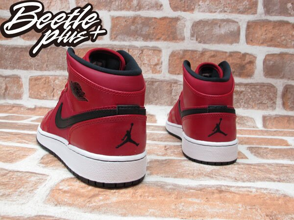 BEETLE NIKE AIR JORDAN 1 MID BG GS 紅黑 GYM RED 女鞋 554725-602 2
