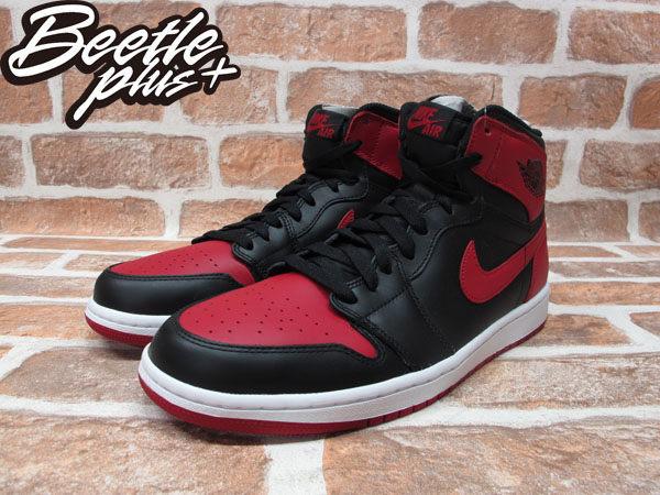 BEETLE PLUS 西門町經銷 全新 NIKE AIR JORDAN 1 RETRO HIGH HI OG BLACK RED BRED AJ 1 一代 黑紅 555088-023 男鞋 1