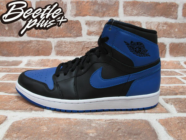 西門町 BEETLE PLUS 全新 NIKE AIR JORDAN 1RETRO HIGH HI OG BLACK ROYAL AJ 1 一代 黑藍 BLUE 555088-085